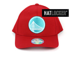 Mitchell & Ness Golden State Warriors Red Teal High Crown Snapback