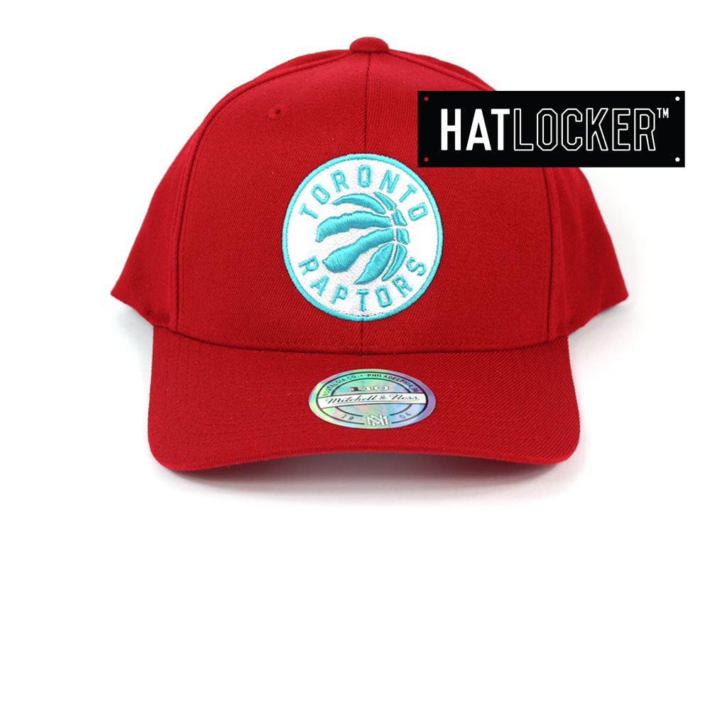 Mitchell & Ness Toronto Raptors Red Teal High Crown Snapback