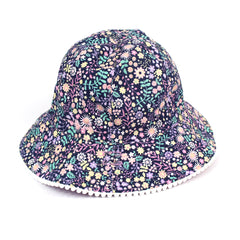 Millymook Tilly Kids Navy Floppy Bucket Hat