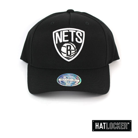 Mitchell and Ness Brooklyn Nets BW Alt Logo 110 Curved Snapback