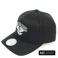 Mitchell and Ness New Orleans Pelicans BW Partial Logo 110 Curved Snapback
