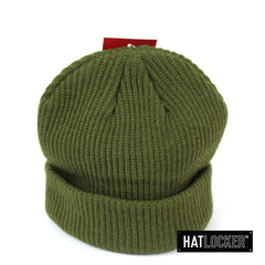 Mitchell and Ness M&N Branded Olive Shallow Cuff Knit Beanie