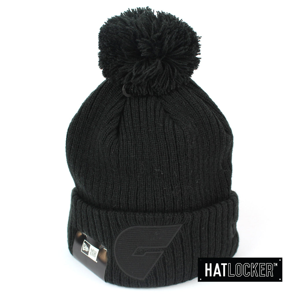 New Era GWS Giants Black On Black Pom Knit Beanie