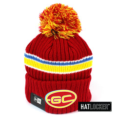 New Era Gold Coast Suns Team Colour Pom Knit Beanie