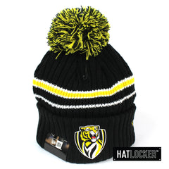 New Era - Richmond Tigers Team Colour Pom Knit Beanie