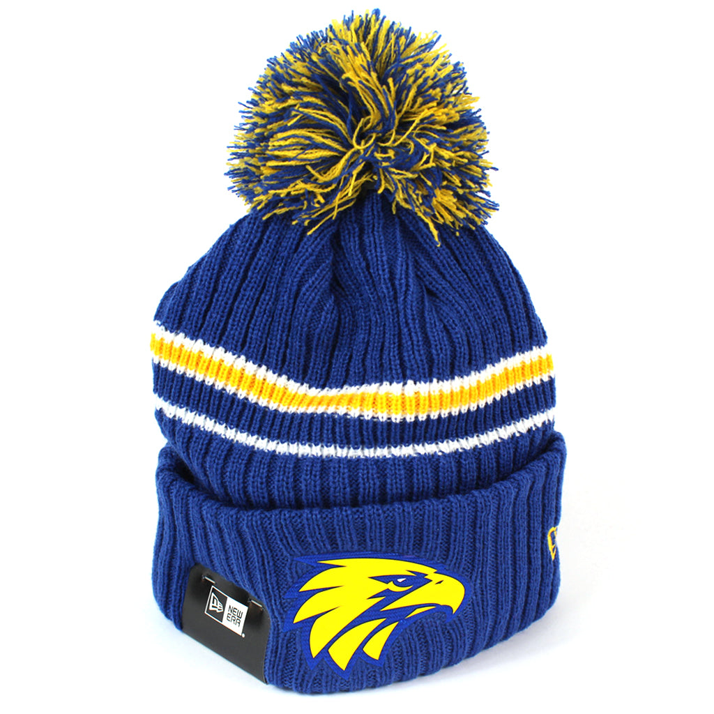 New Era West Coast Eagles Team Colour Pom Knit Beanie