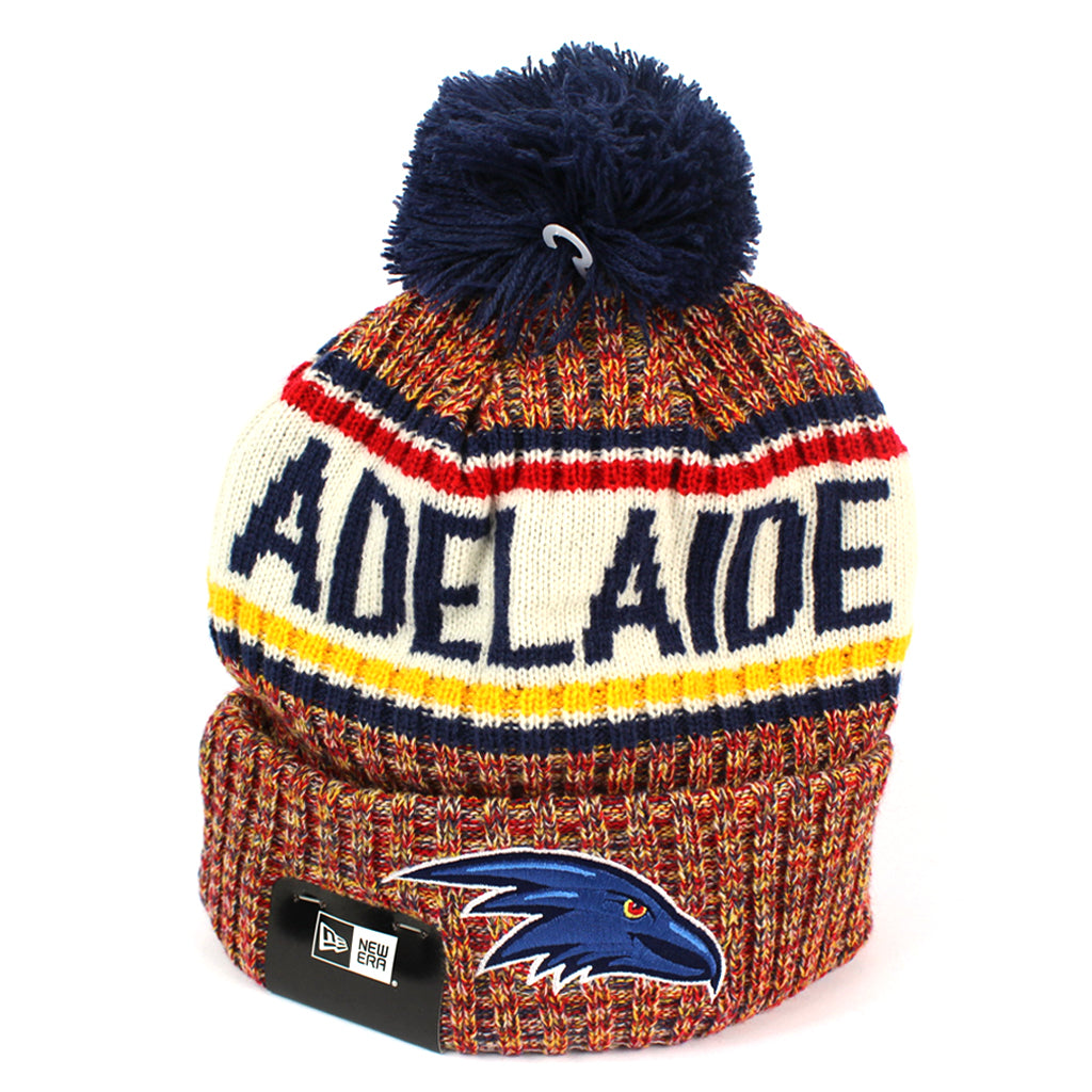 New Era Adelaide Crows Authentic Team Multi Colour Pom Knit Beanie