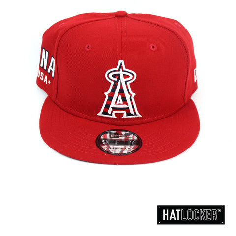 New Era Anaheim Angels July 4th Scarlet Snapback