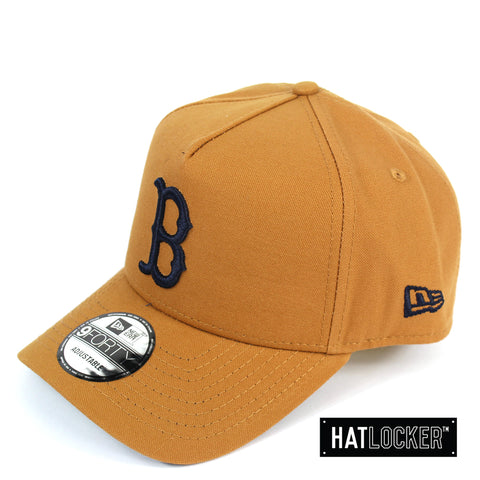 New Era Boston Red Sox Canvas In Bronze Curved Snapback