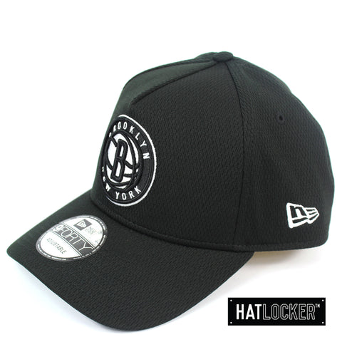New Era Brooklyn Nets BBall Mesh Black Curved Snapback