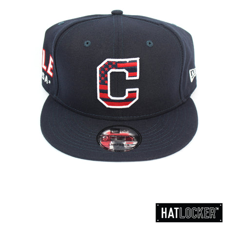 New Era Cleveland Indians July 4th Navy Snapback