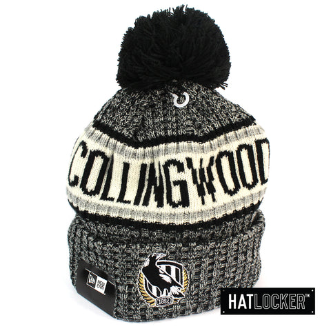 New Era Collingwood Magpies Authentic Team Multi Colour Pom Knit Beanie