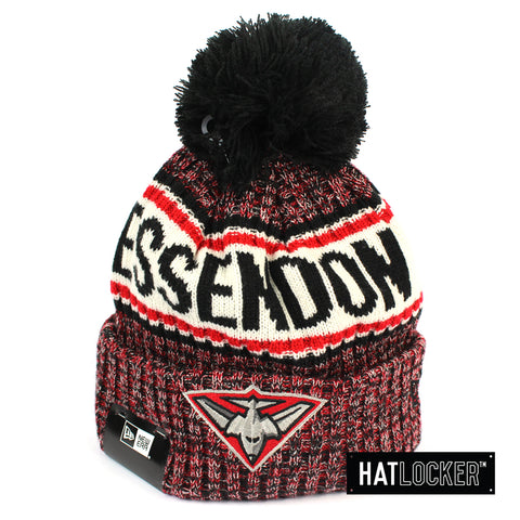 New Era Essendon Bombers Authentic Team Multi Colour Pom Knit Beanie
