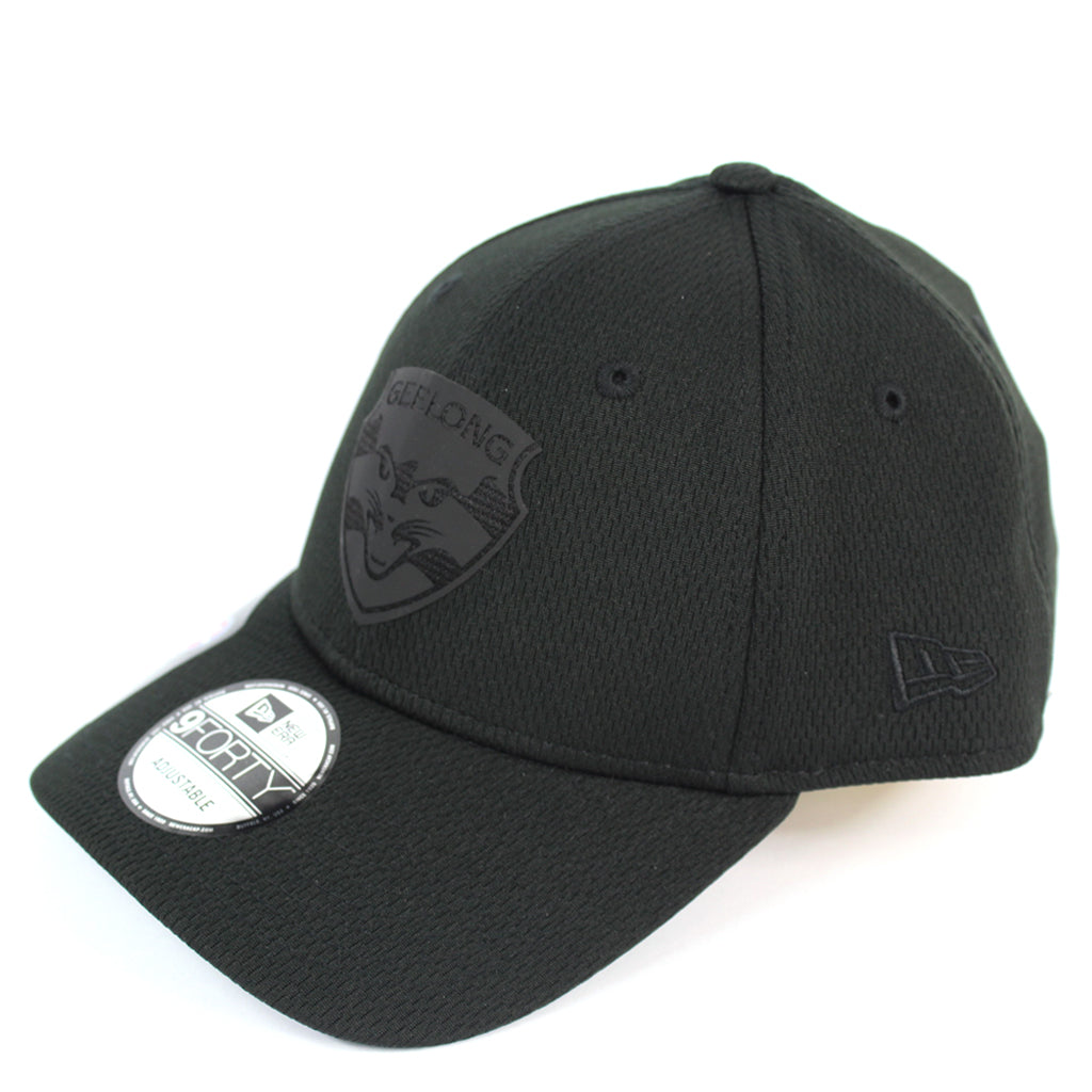 New Era Geelong Cats OB 2020 Black On Black Curved Snapback