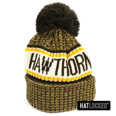 New Era Hawthorn Hawks Authentic Team Multi Colour Pom Knit Beanie