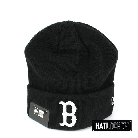 New Era Boston Red Sox White Felt Patch Logo Beanie