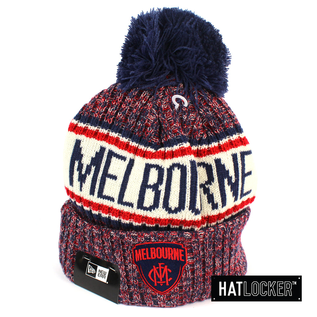 New Era Melbourne Demons Authentic Team Multi Colour Pom Knit Beanie