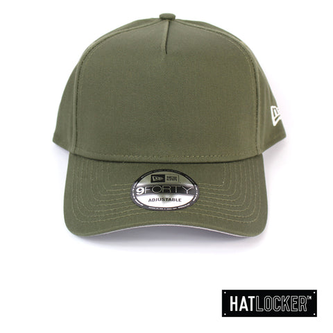 New Era NE Style New Olive Crown Curved Snapback