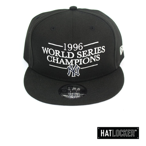 New Era New York Yankees 1996 World Series Champions Black Snapback