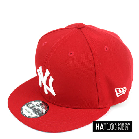 New Era New York Yankees 1996 World Series Champions Scarlet Snapback
