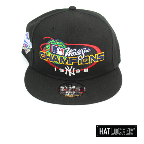 New Era New York Yankees 1998 World Series Champions Black Snapback