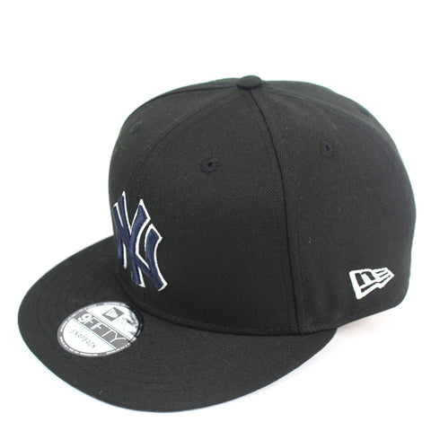 New Era New York Yankees Black Team Hit Snapback