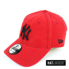 New Era New York Yankees Scarlet Canvas Curved Strapback