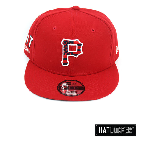 New Era Pittsburgh Pirates July 4th Scarlet Snapback