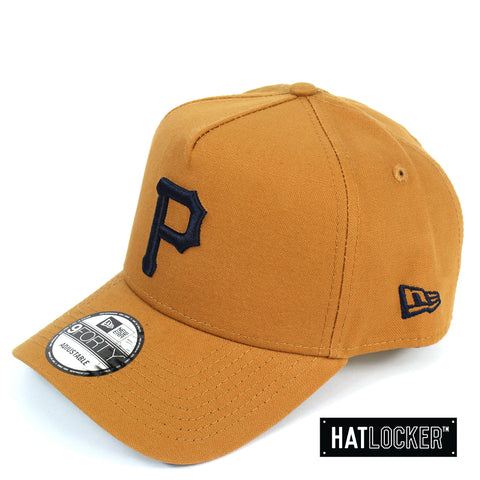 New Era Pittsburgh Pirates Canvas In Bronze Curved Snapback