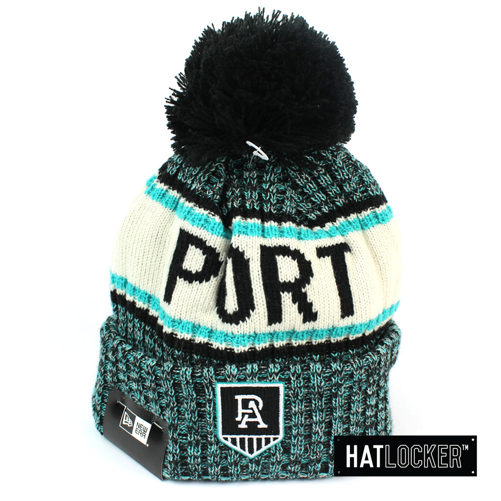 New Era Port Adelaide Power Authentic Team Multi Colour Pom Knit Beanie