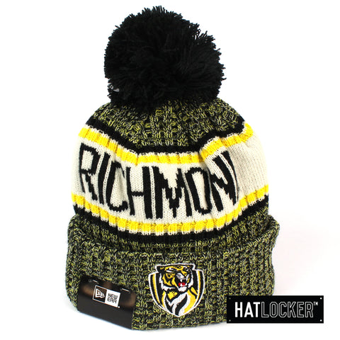 New Era Richmond Tigers Authentic Team Multi Colour Pom Knit Beanie