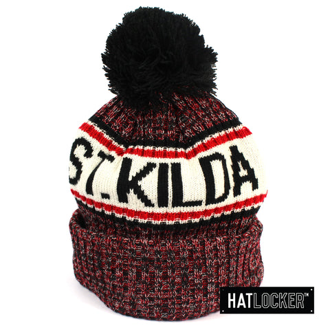 New Era St Kilda Saints Authentic Team Multi Colour Pom Knit Beanie