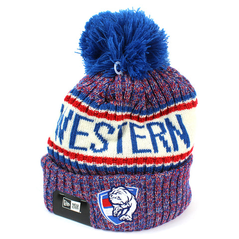 New Era Western Bulldogs Authentic Team Multi Colour Pom Knit Beanie