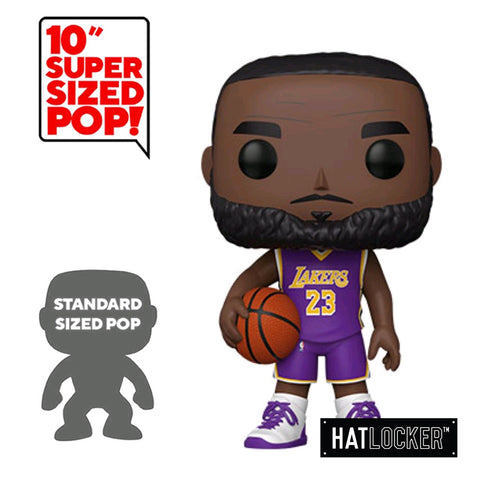 "Pop! Vinyl Basketball NBA LA Lakers Lebron James 10"" Purple Jersey"