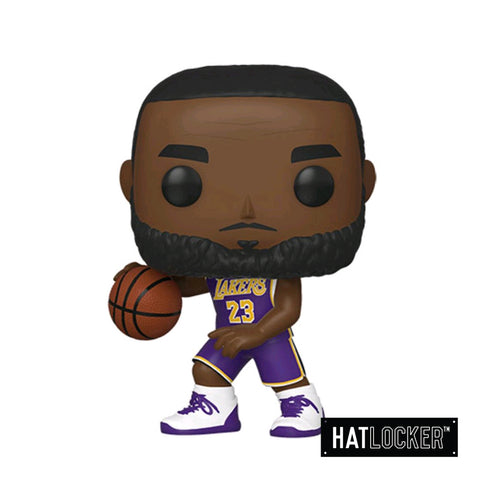 Pop! Vinyl Basketball NBA LA Lakers Lebron James Dribble Pose Purple Uniform
