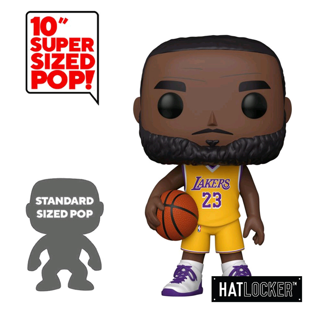 "Pop! Vinyl Basketball NBA LA Lakers Lebron James 10"" Yellow Jersey"
