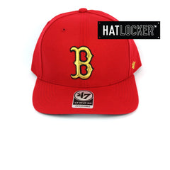 47 Brand Boston Red Sox Red Gold Metallic Precurved Snapback