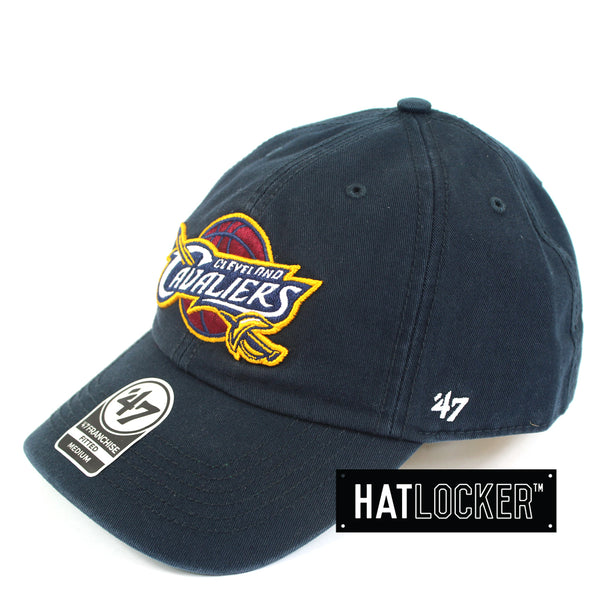 47 Brand NBA Cleveland Cavaliers Franchise Navy Curved Brim Side Hat Locker Australia