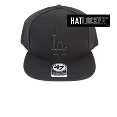 47 Brand LA Dodgers Black Matte 47 Captain Snapback Hat