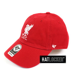 47 Brand EPL Liverpool FC Clean Up Red Curved Brim Side Hat Locker Australia