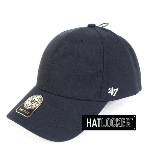 47 Brand MVP Clean Up Navy Curved Snapback Hat Side
