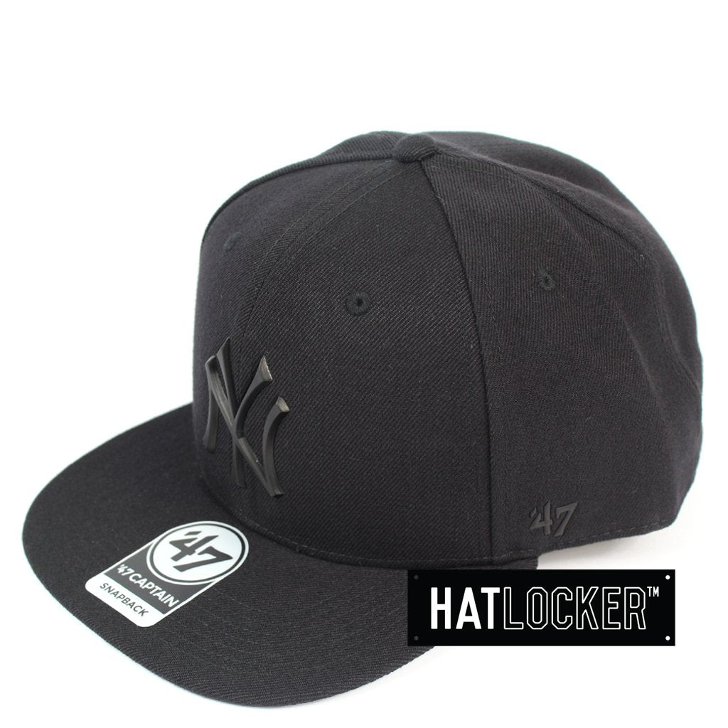 47 Brand New York Yankees Black Matte 47 Captain Snapback Hat