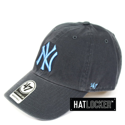 47 Brand New York Yankees Navy Periwinkle Clean Up Curved Strapback