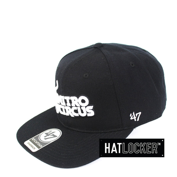 47 Brand - Nitro Circus Black White No Shot Captain Snapback