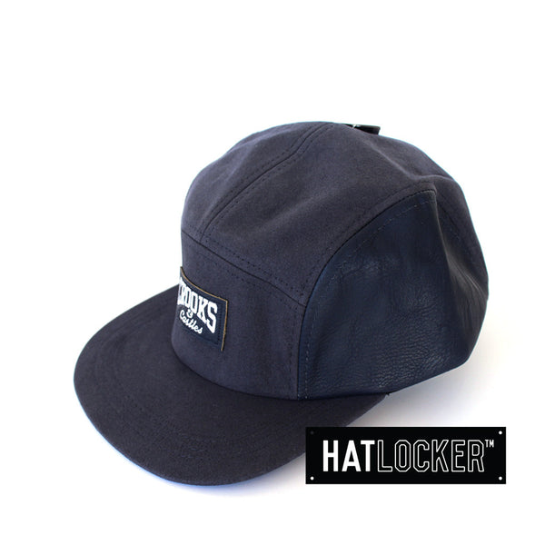 crooks-castles-core-logo-navy-5-panel