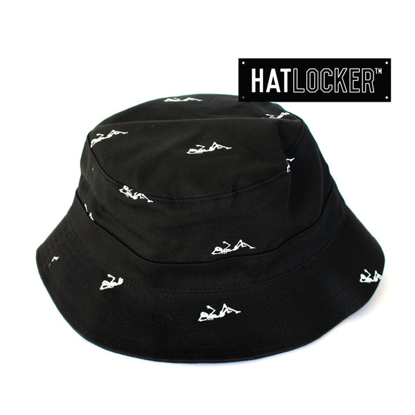 crooks-castles-regiment-black-bucket-hat