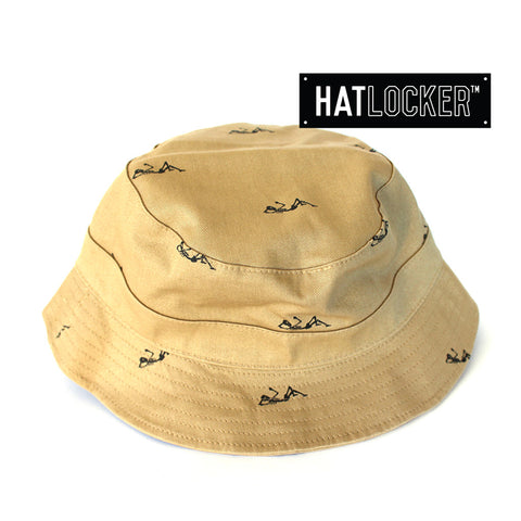 crooks-castles-regiment-khaki-bucket-hat