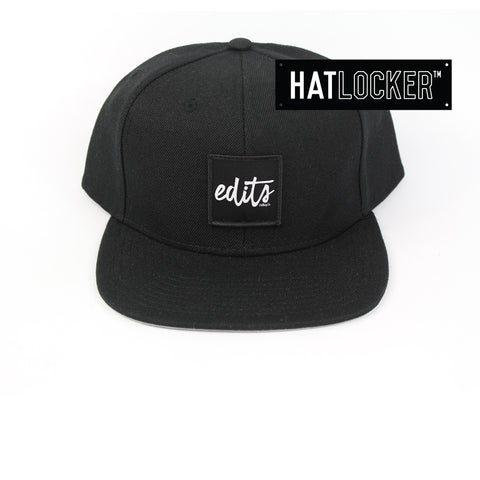 Edits 002 Black Patch Snapback Hat Australia