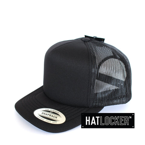 Flexfit High Crown Mesh Black Snapback Hat
