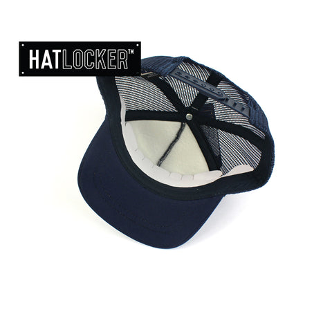 Flexfit High Crown Navy Toddler Trucker Cap
